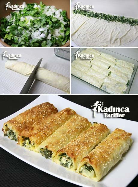 Spinach Roll Pastry Directions