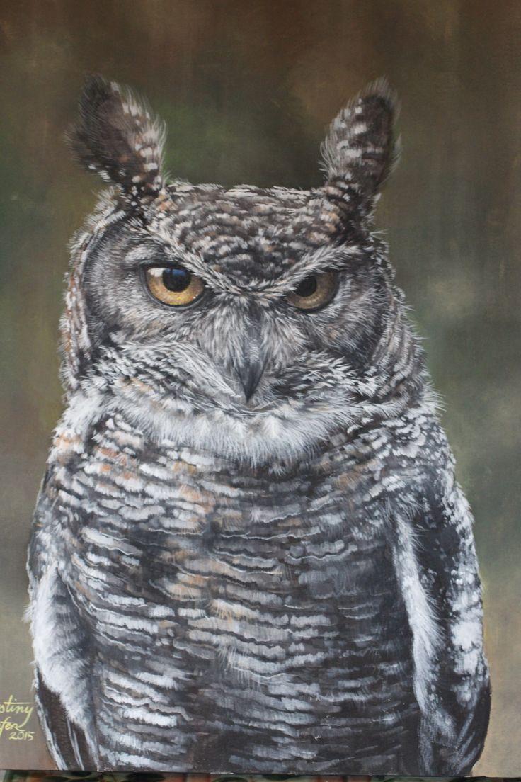 Owl, (18x20, Acrylic,  2015)