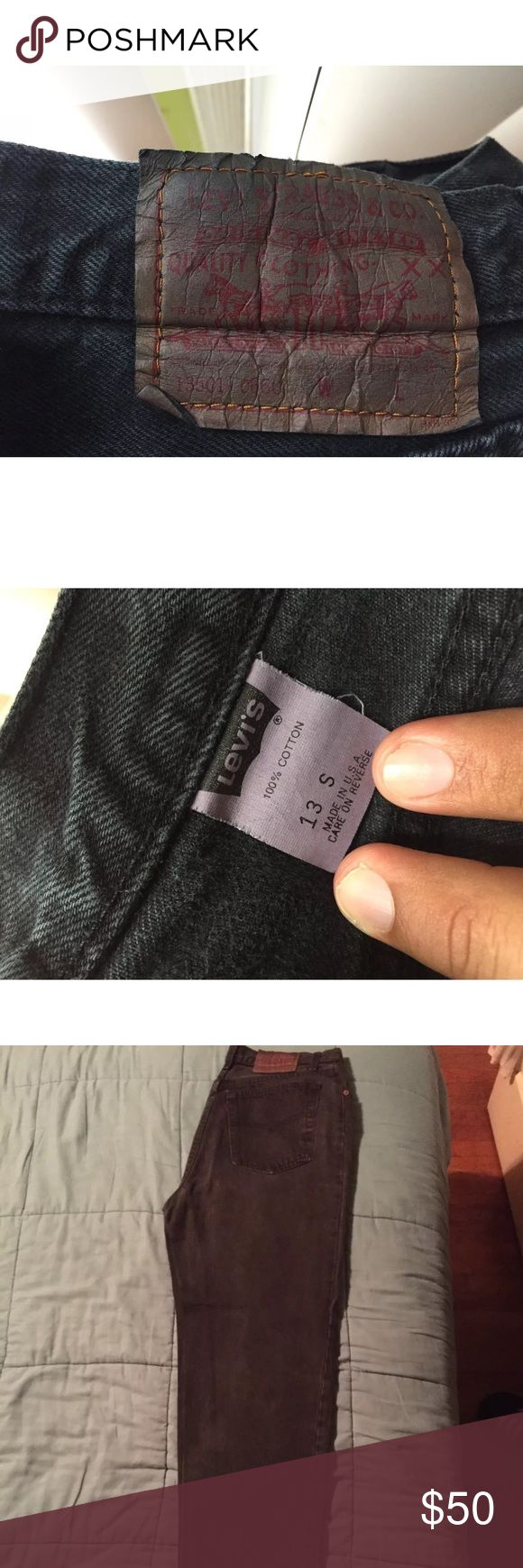 Vintage Women's 501 Levi's Jeans made in the usa These pair of Levis are straight from the 90's. Belonged to a great person who loved them very much. These pair are made in the USA. Vintage jeans indeed. There's a blue pair on my profile if it hasnt already sold. Levi's Jeans Straight Leg