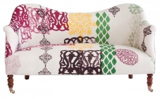 colorful love seat