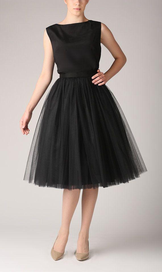 Falda de tul faldas tutú enagua larga alta calidad por Fanfaronada