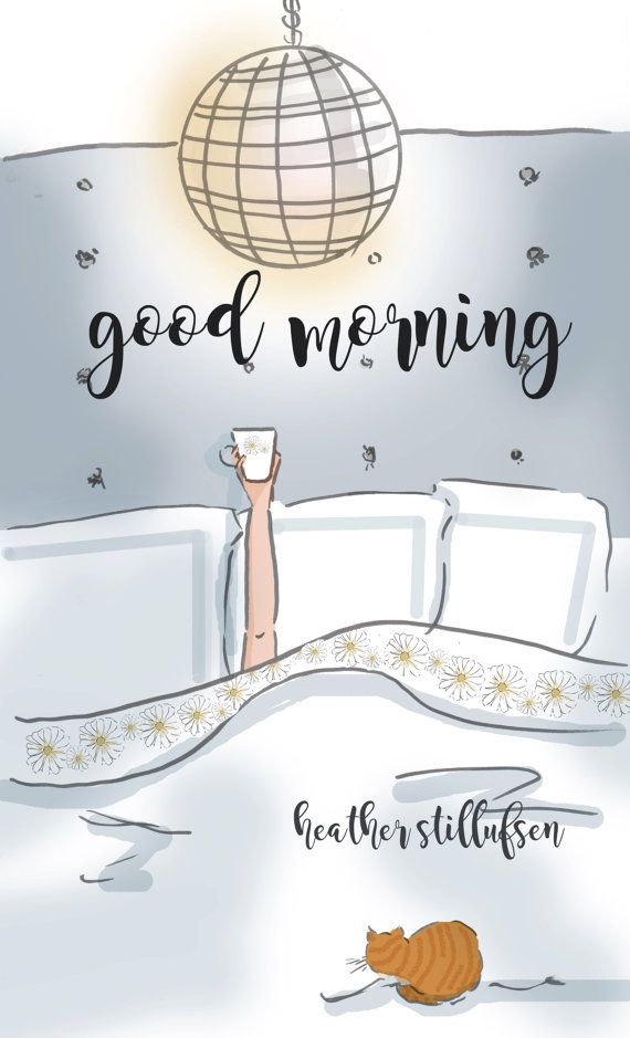 Wall Art for Women  Coffee GOOD MORNINT  by RoseHillDesignStudio