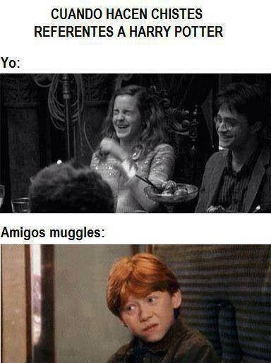 Cuando hacen chistes de Harry Potter...
