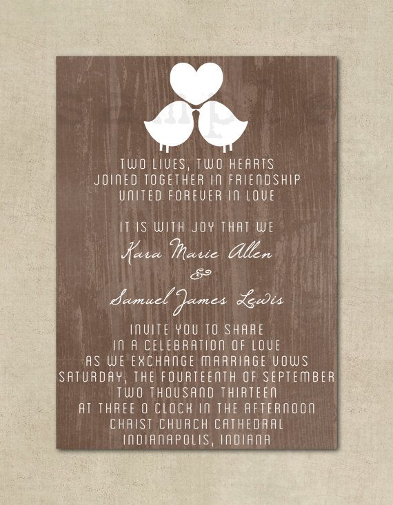 Wedding Invitation Rustic Shabby Chic Wedding by ThePaperFairie