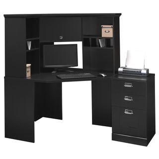 Bush Stockport Black Corner Desk Set | Overstock.com Shopping - The Best Deals on Desks