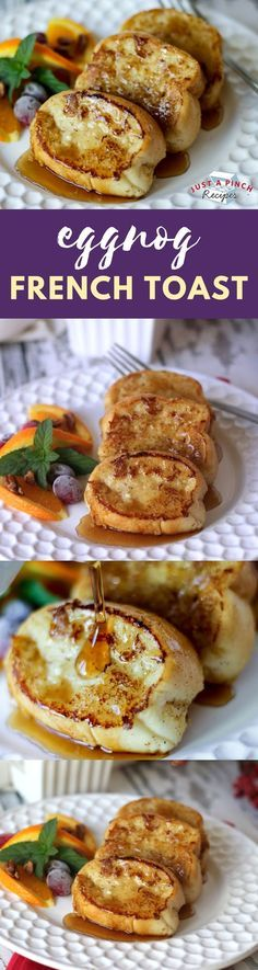 Eggnog French Toast ~ a perfect Christmas breakfast recipe!