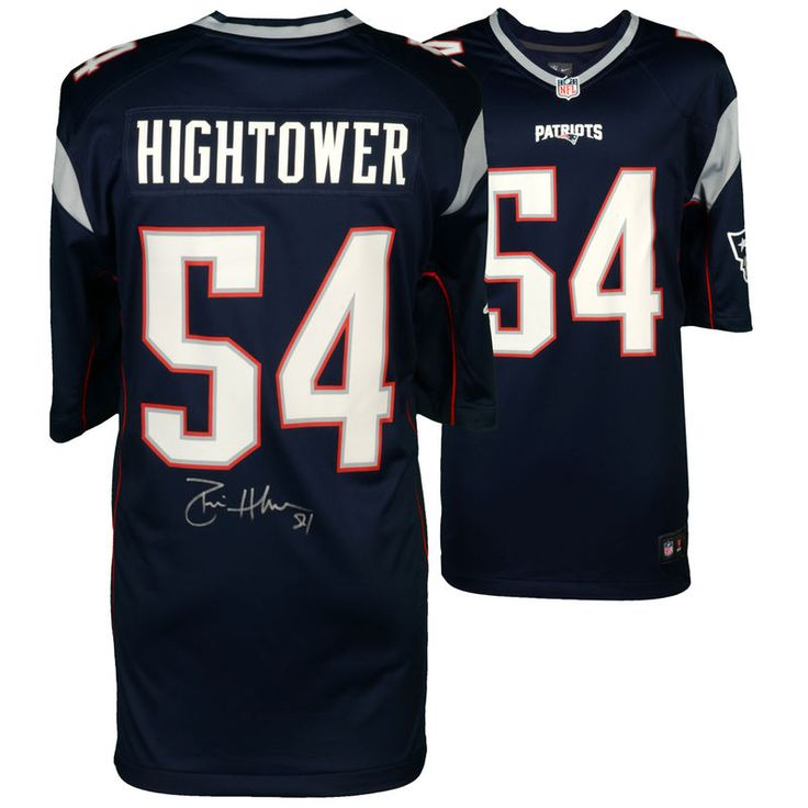 NFL Jersey Donta Hightower New England Patriots Fanatics Authentic  Autographed Nike Navy Game