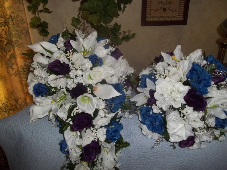 Custom Cascade Purple , Blue & white