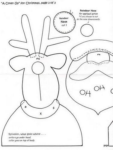 Santa & Rudolph applique pattern, part 1...  CUBRE_JARROS_(3) | Flickr – Compartilhamento de fotos!