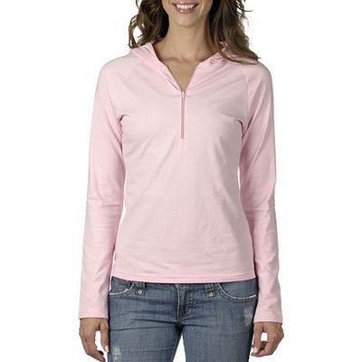 Half-Zip Pullover Coloured Min 25 - A perfect compliment to a gym outfit and a slim fit body with raglan sleeves. #Hoodies #Sweatshirt #PromotionalProducts #LadiesHoodie #KidsHoodie #MensHoodie