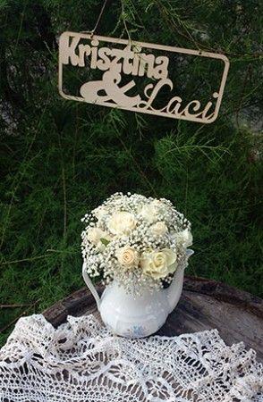 Egyedi esküvői fa tábla névre szoló