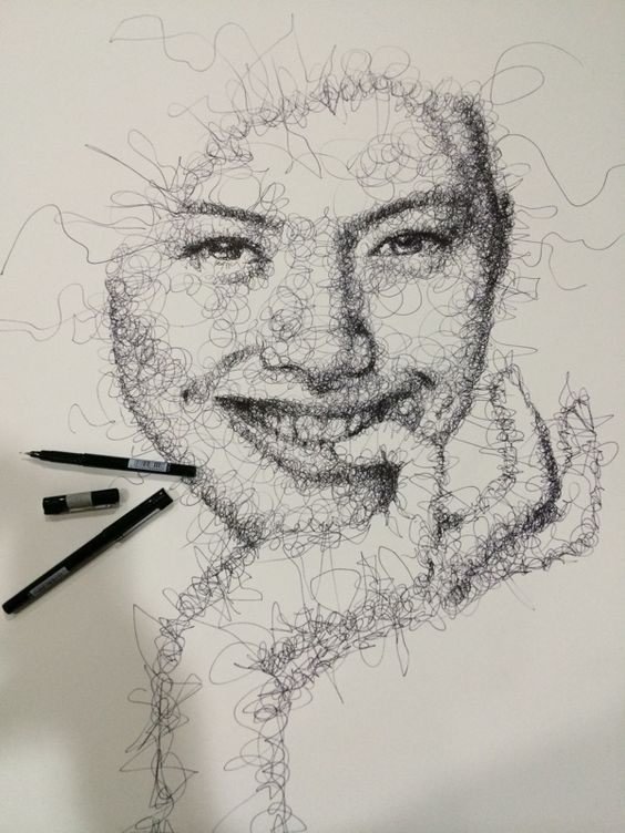 Scribble Drawing Ideas : Scribble art to make your home and office look awesome