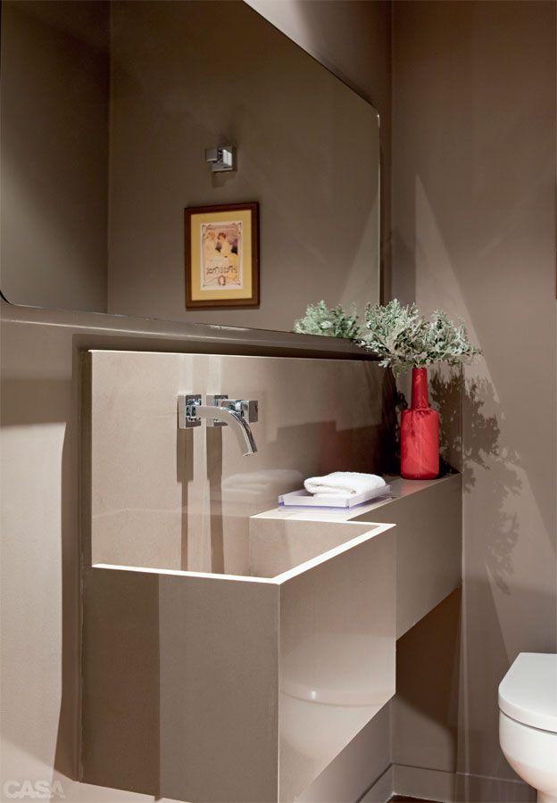 seis lavabos com sugestes lindas para encantar as visitas