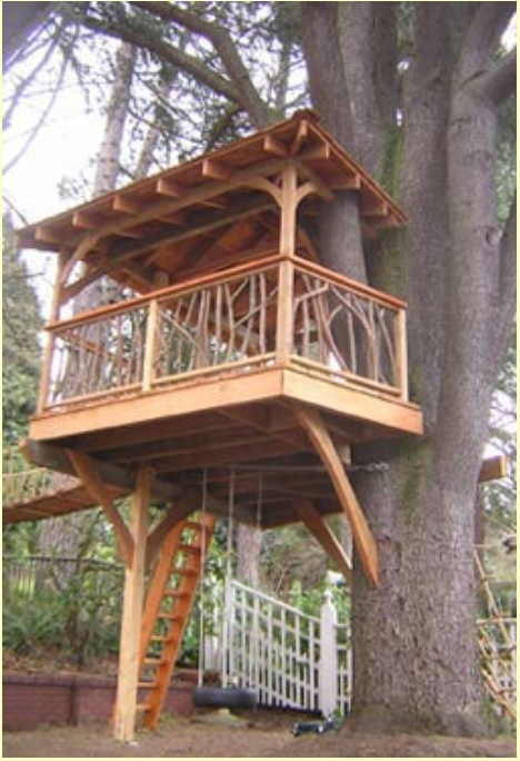 how to build a treehouse without damaging the tree