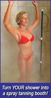 ShowerTan: Get a tan, right in your own shower! Available for $329.00.