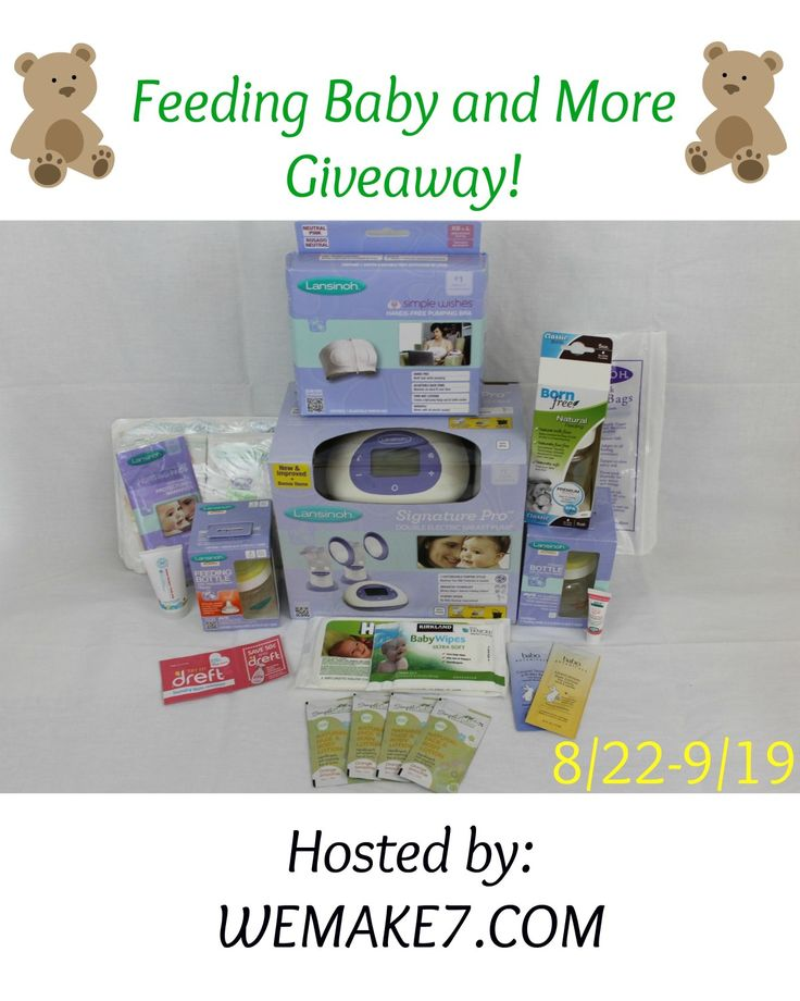 """Welcome to the """"Feeding Baby and More"""" Giveaway. Hosted by WEMAKE7.com. This prize package is great for any new mom or mom to be that either wants to breastfeed, pump andfeed from a bottle or just simplybottle feed.This giveaway is valued over $200. All items are brand new in package. They include: Lansinoh Signature Pro …"""