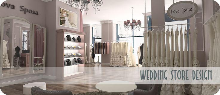 Design Interior Spatiu Comercial – Salon Rochii Mireasa