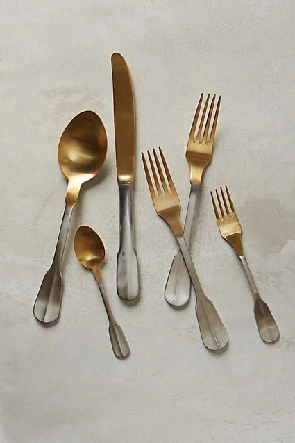 Gold-Tipped Cutlery - anthropologie.com