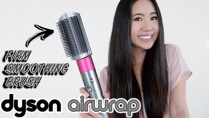 Dyson airwrap firm smoothing brush vs straightener hair