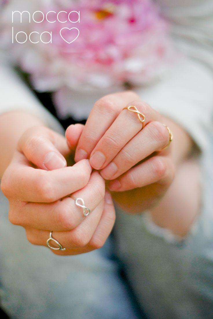 Minimalistyczna biżuteria - pierścionki - nieskończoność i karma