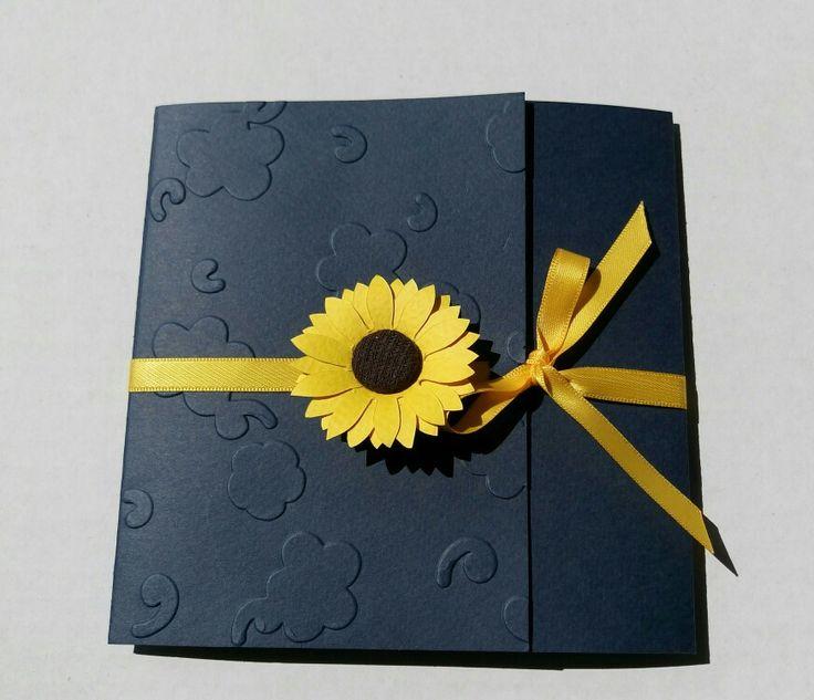Invitație nunta Floarea soarelui