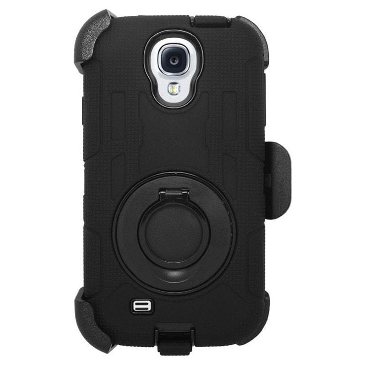 Zizo Heavy Duty TRAC Holster Combo Galaxy S4 Case - Black