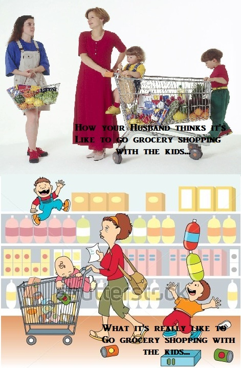 The truth about Grocery Shopping with your kids...