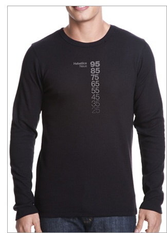 Helvetica Neue Descending a Long Sleeved Thermal Tee. Our first design from my outfit TypographyShop. $28.99  #design #typography #t-shirt #type #graphic-design #gift #clothing