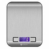Etekcity Digital Multifunction Food Kitchen Scale,11lb 5kg, Silver, Stainless Steel (Batteries Included)
