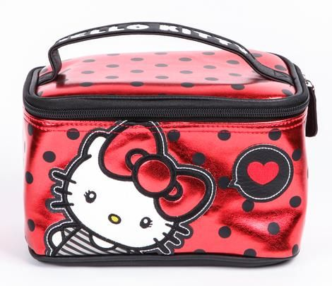 Hello Kitty Make-Up Case: Big Red Bow