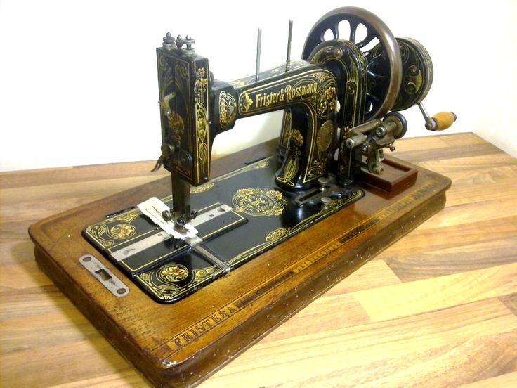 Antique Frister Rossman Hand Crank Sewing Machine