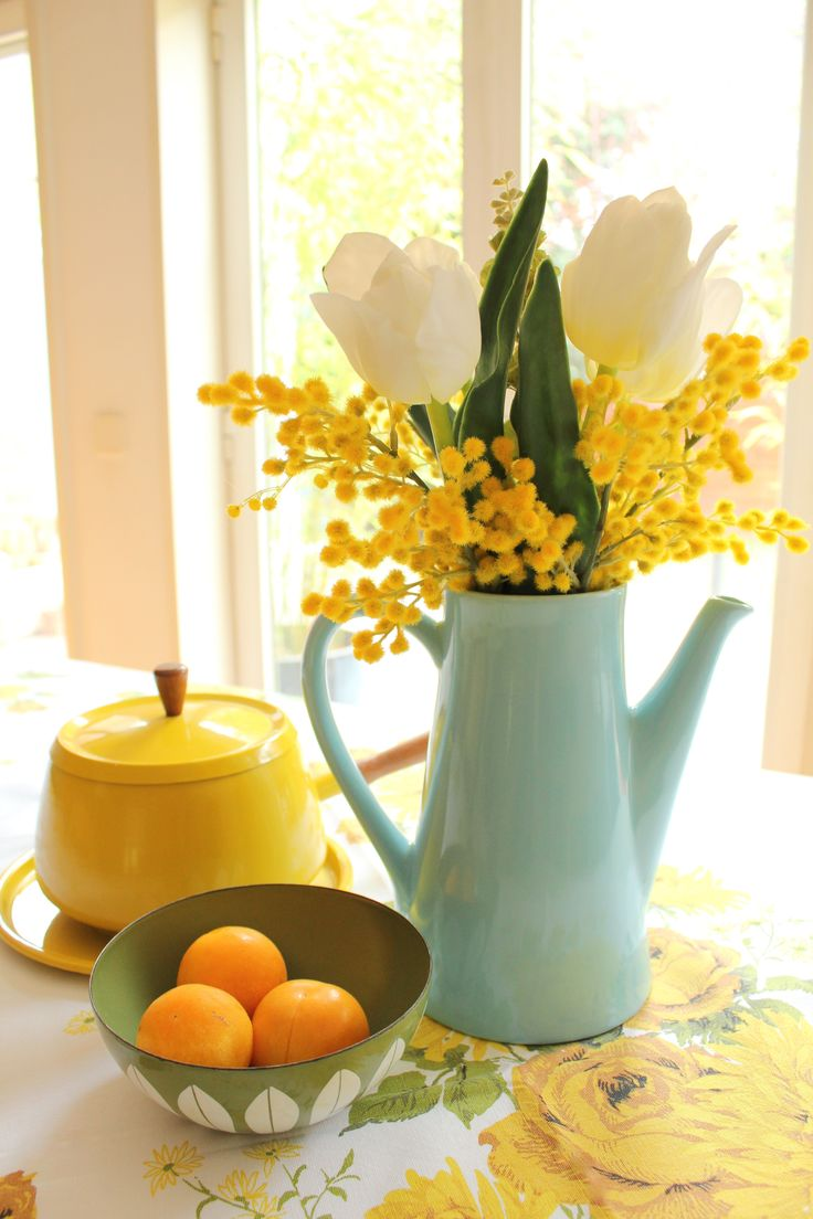 i want a fresh blue yellow kitchen clean but homey deltafaucetinspired - Yellow Kitchen Decorating Ideas
