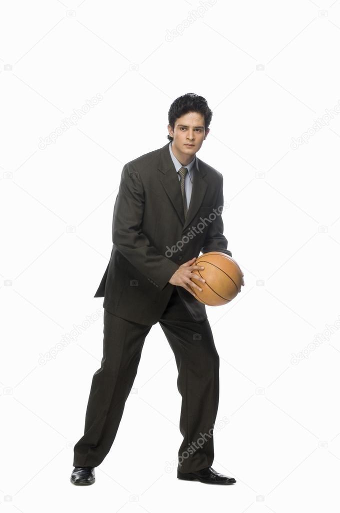 Businessman Playing Basket Ball Stock Photo Sponsored Basket