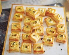 These canapés are the perfect savoury bites. Packed with creamy goat's cheese, light puff pastry and sweet honey, they taste amazing and take no time at all to prepare.