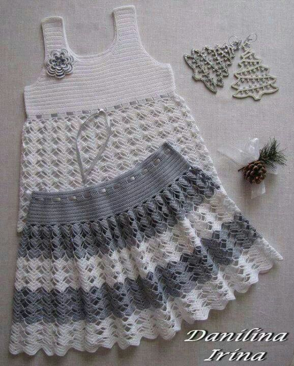 crochet set for little girls