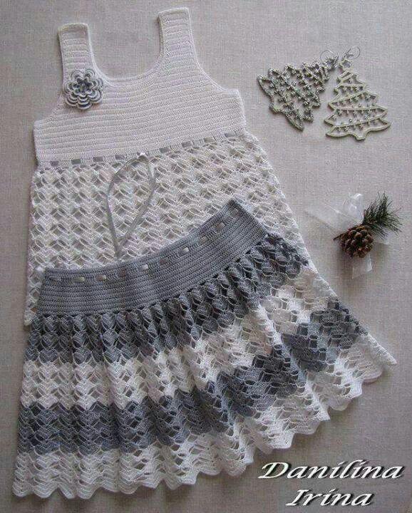crochet set for little girls