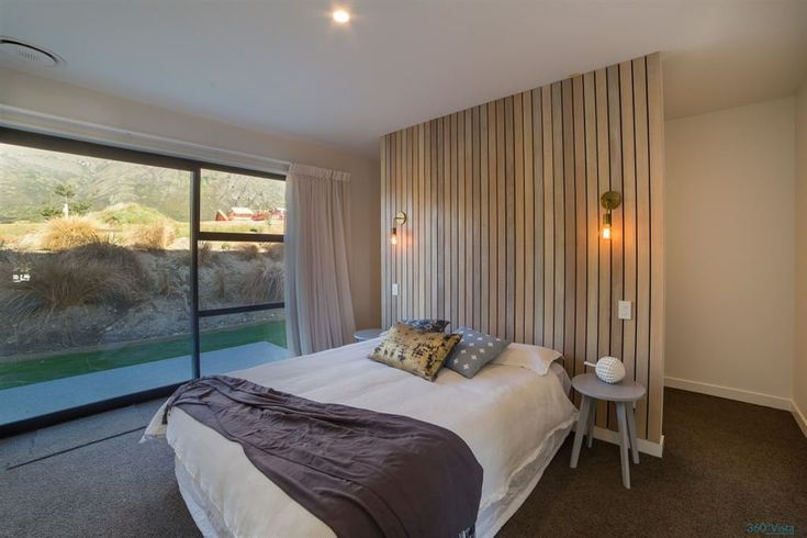 Falconer Rise, Jacks Point - Deavoll Construction | Queenstown Builders,  interior, design, architecture, bedroom, feature wall,