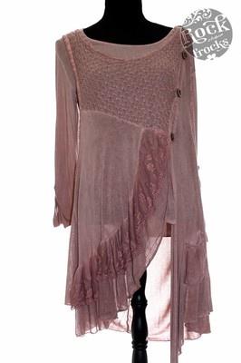 Italian Dusky Pink LAGENLOOK Tunic/Dress One Size Regular Made in Italy