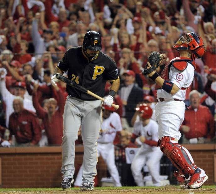 Cardinals 6, Pirates 1 Oct. 9, 2013 Yadi's reaction to winning tonight's game. :D