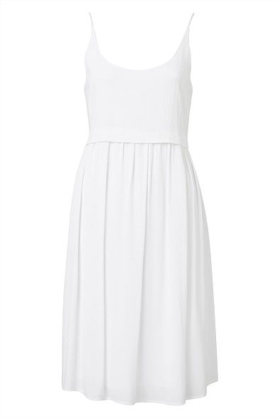 Overlay Gauze Dress