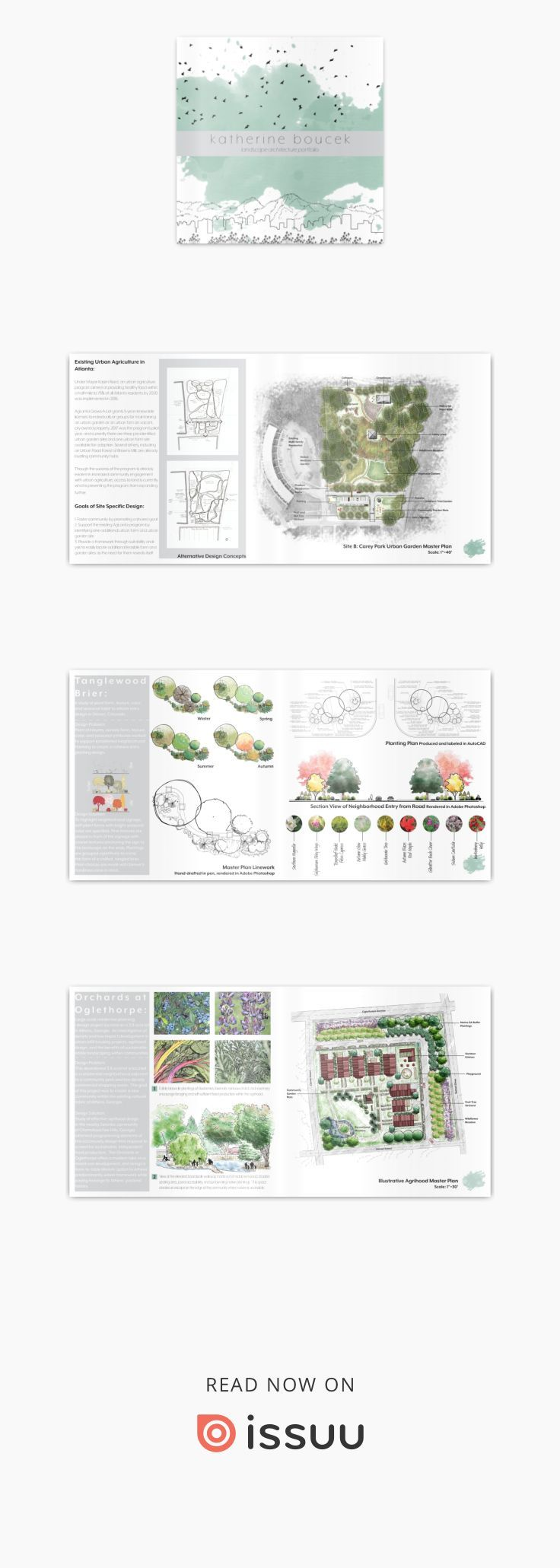Katherine Boucek Landscape Architecture Portfolio 2018  Additional works from my time at the University of Georgia in their Bachelor of Landscape Architecture program