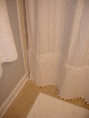 Added length to shower curtain.