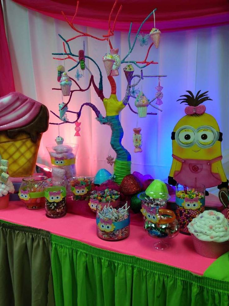 Girl Party Table Decoration Ideas