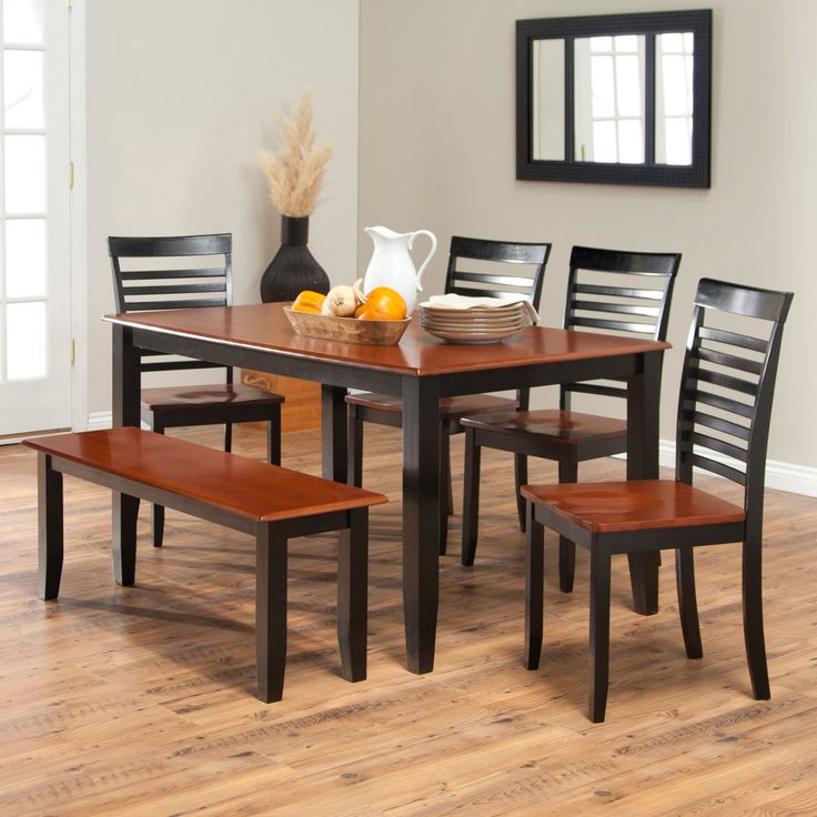 Black and Cherry Kitchen Table - Rustic Kitchen Decorating Ideas Check more at http://www.entropiads.com/black-and-cherry-kitchen-table/