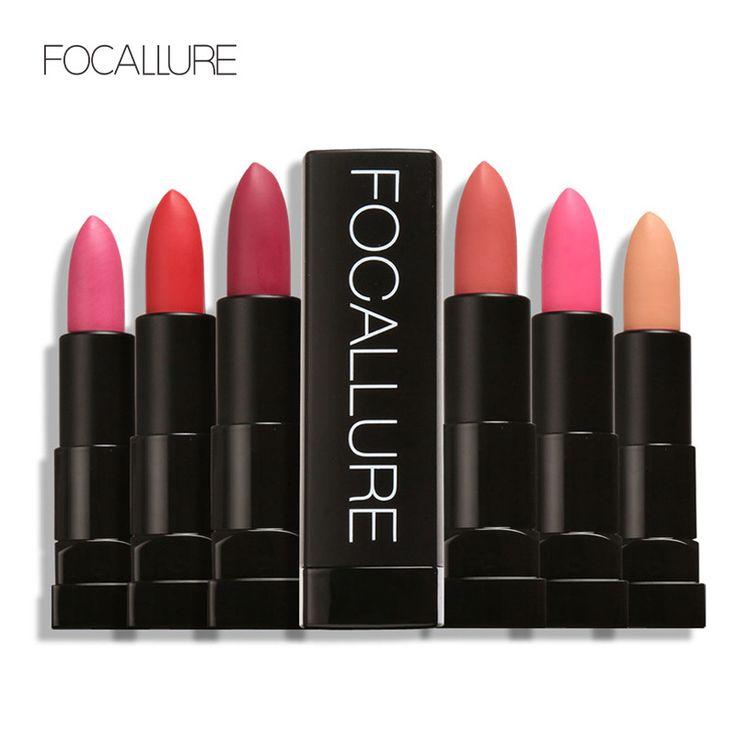 Foclalure برو ماتي أحمر الشفاه عارية أحمر الشفاه طويل الأمد للماء التجميل للنساء
