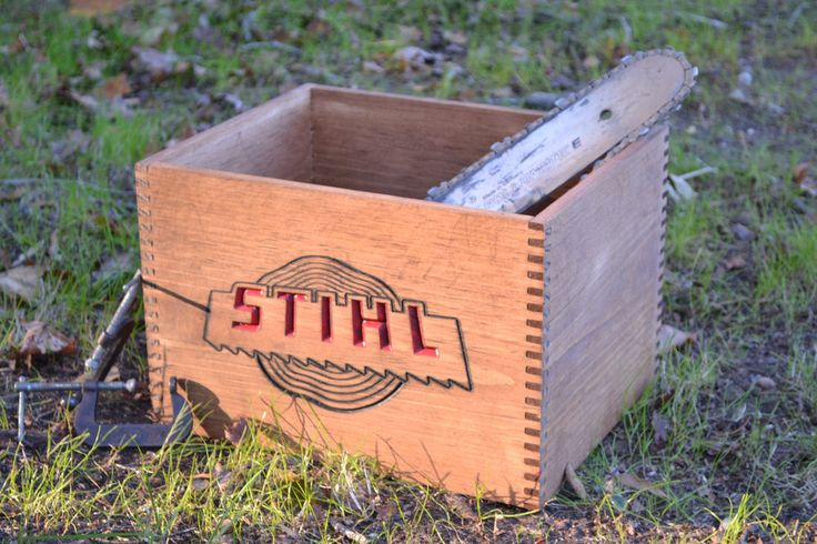 Vintage Stihl Chainsaw Parts Crate Replica - For Man-cave, Prop, Decor, Storage