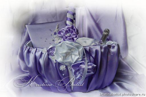 СВАДЕБНЫЕ КОРЗИНЫ. 250гривен, 1100рублей Свадебная корзина в лиловом (Свадьбы)