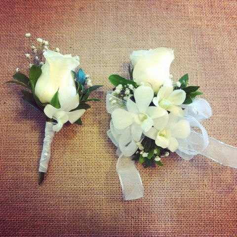 Matching Corsage And Boutonnieres
