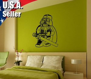 wall decor art vinyl removable mural decal sticker lego. Black Bedroom Furniture Sets. Home Design Ideas