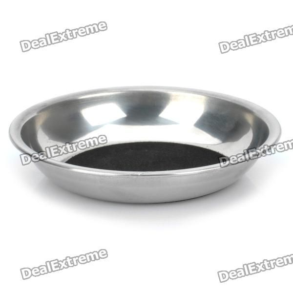 Material: steel + plush cloth - To make a coin into a glass on the dish without moving or destroying the glass - Make your own magic now - Comes with English/Chinese user manual http://j.mp/1oTTV6V